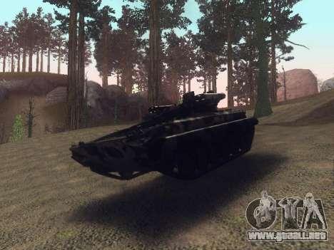 BMP-2 para GTA San Andreas vista hacia atrás