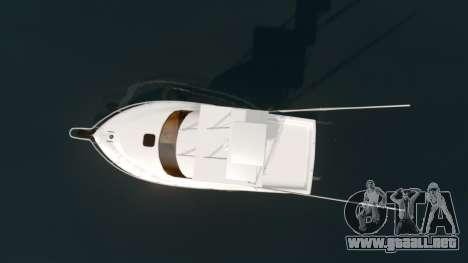 Sport fishing yacht para GTA 4 visión correcta