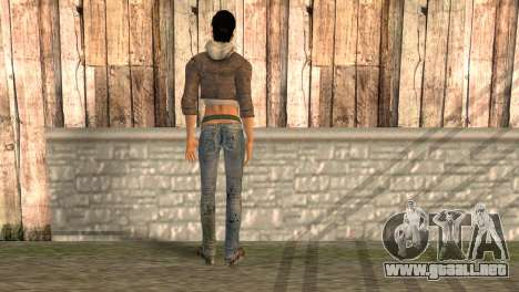 Alyx Vance de Half Life 2 para GTA San Andreas segunda pantalla