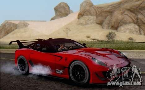 Ferrari 599XX Evolution para la visión correcta GTA San Andreas