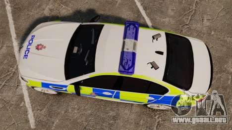 BMW M5 Greater Manchester Police [ELS] para GTA 4 visión correcta