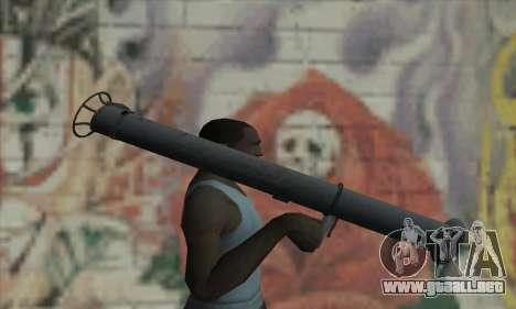 Bazuca para GTA San Andreas tercera pantalla