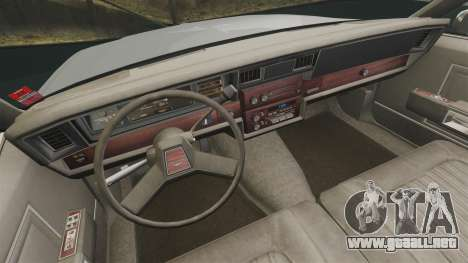 Chevrolet Caprice 1989 v2.0 para GTA 4 vista hacia atrás