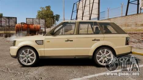 Range Rover Sport Unmarked Police [ELS] para GTA 4 left