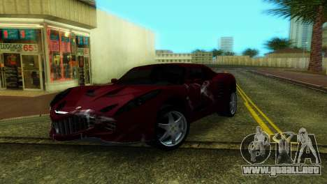 Lotus Elise para GTA Vice City vista posterior