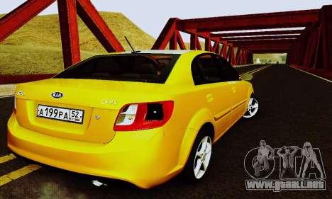 Kia Rio II 2009 para vista lateral GTA San Andreas