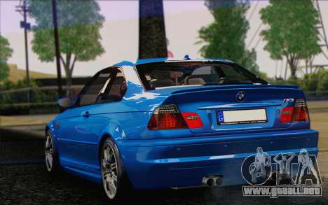 BMW M3 E46 2005 para GTA San Andreas vista posterior izquierda