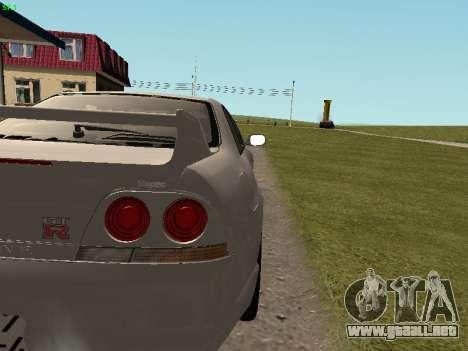 Nissan Skyline R33 GT-R para visión interna GTA San Andreas