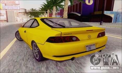 Acura RSX para GTA San Andreas vista hacia atrás