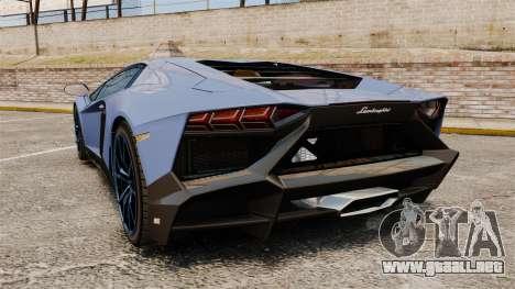 Lamborghini Aventador LP720-4 50th Anniversario para GTA 4 Vista posterior izquierda