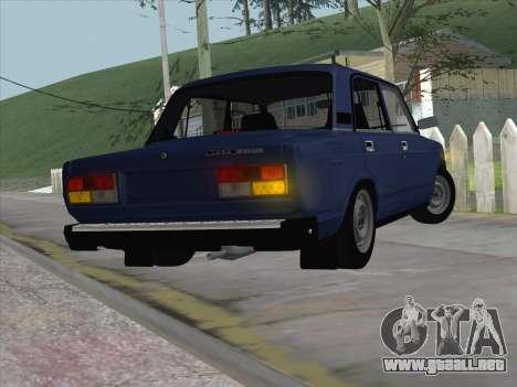ВАЗ 21074 para GTA San Andreas vista posterior izquierda