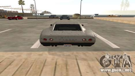 Monroe de GTA 5 para GTA San Andreas vista hacia atrás