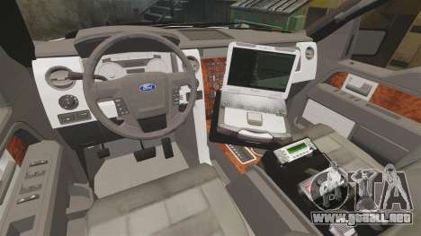 Ford F-150 2012 CEPS [ELS] para GTA 4 vista interior