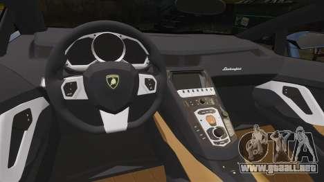 Lamborghini Aventador LP720-4 50th Anniversario para GTA 4 vista interior