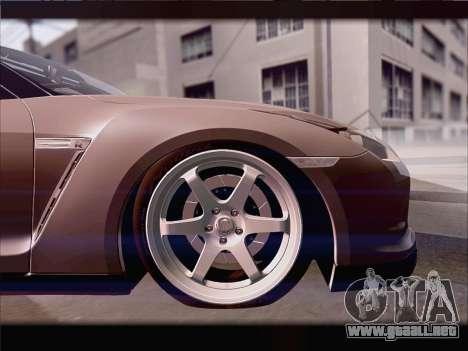Nissan GT-R Spec V Stance para visión interna GTA San Andreas