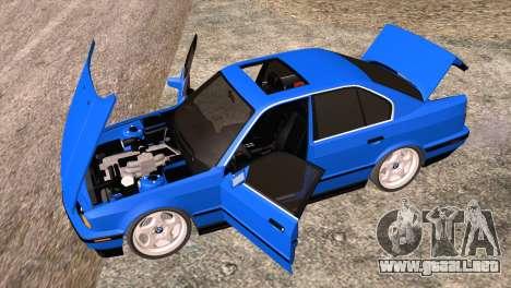 BMW 535i E34 Mafia Style para visión interna GTA San Andreas