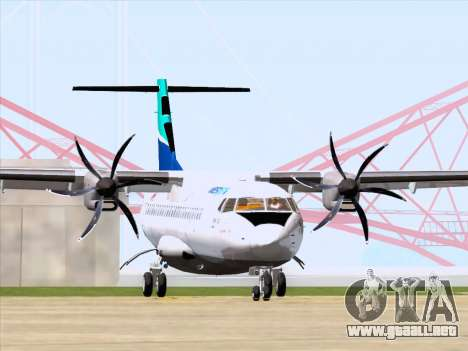 ATR 72-500 WestJet Airlines para GTA San Andreas left