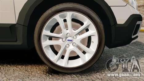 Volvo XC70 Police [ELS] para GTA 4 vista hacia atrás