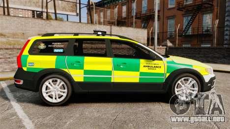 Volvo XC70 Paramedic [ELS] para GTA 4 left