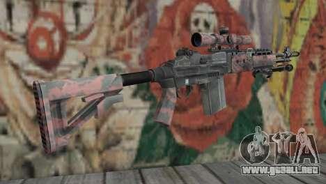 M14 EBR Red Tiger para GTA San Andreas segunda pantalla
