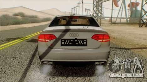 Audi S4 para GTA San Andreas vista hacia atrás