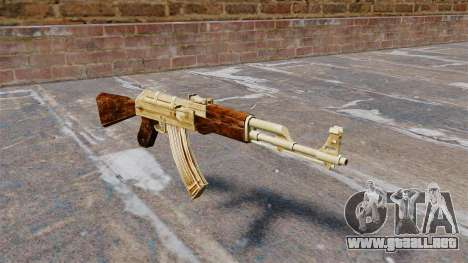 AK-47 de oro plateado para GTA 4