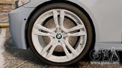 BMW M5 Unmarked Police [ELS] para GTA 4 vista hacia atrás