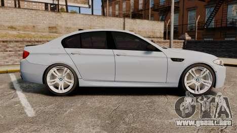 BMW M5 Unmarked Police [ELS] para GTA 4 left