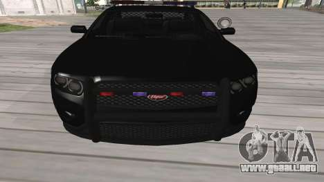 GTA V Police Cruiser para GTA San Andreas left
