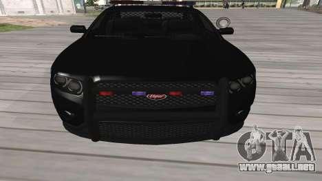 GTA V Police Cruiser para GTA San Andreas left
