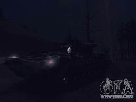 BMP-2 para vista inferior GTA San Andreas