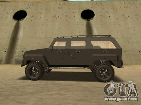 Ford Super Duty Armored para GTA San Andreas vista posterior izquierda