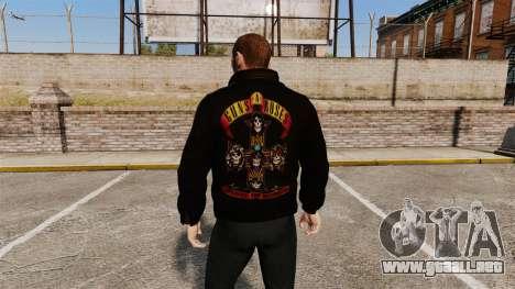 Chaqueta de cuero-Guns N Roses- para GTA 4 segundos de pantalla