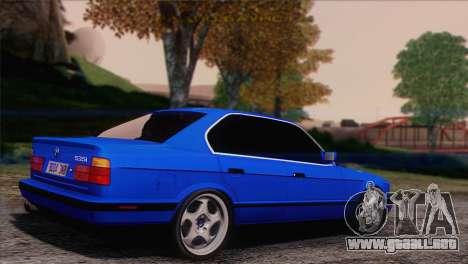 BMW 535i E34 Mafia Style para GTA San Andreas left