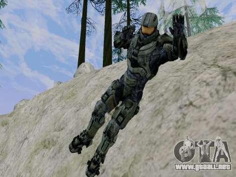 Master Chief para GTA San Andreas sexta pantalla
