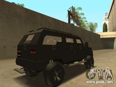 Ford Super Duty Armored para GTA San Andreas vista hacia atrás