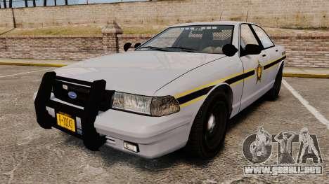 GTA V Vapid Police Cruiser Scheriff [ELS] para GTA 4