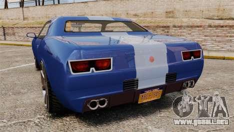 GTA V Declasse Gauntlet ZL1 para GTA 4 Vista posterior izquierda