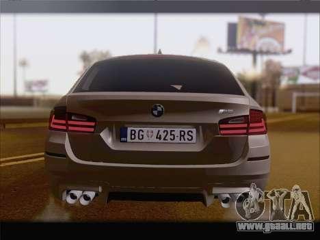 BMW M5 F11 Touring para vista lateral GTA San Andreas