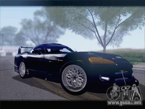 Dodge Viper Competition Coupe para GTA San Andreas vista posterior izquierda