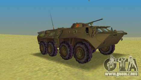 BTR-80 para GTA Vice City visión correcta