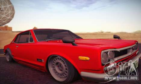 Nissan Skyline 2000GTR 1967 Hellaflush para GTA San Andreas left