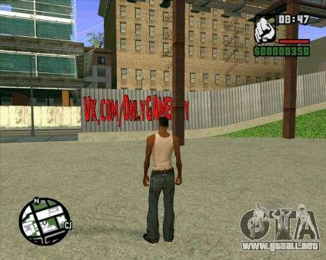 Nuevo HD Skate Park para GTA San Andreas segunda pantalla
