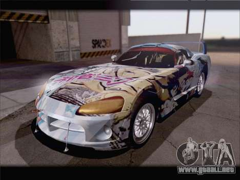Dodge Viper Competition Coupe para vista lateral GTA San Andreas