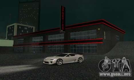 Nuevo showroom en cabello para GTA San Andreas quinta pantalla