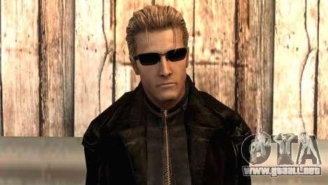 Albert Wesker en el manto para GTA San Andreas tercera pantalla