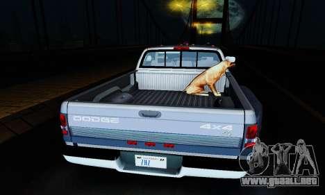 Dodge Ram 3500 para visión interna GTA San Andreas