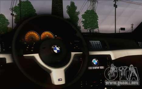 BMW M3 E46 2005 para visión interna GTA San Andreas
