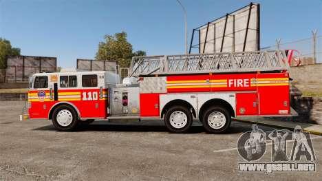 MTL Firetruck MDH1000 Midmount Ladder FDNY [ELS] para GTA 4 left