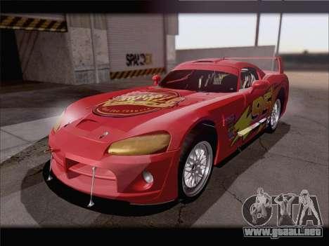 Dodge Viper Competition Coupe para la vista superior GTA San Andreas
